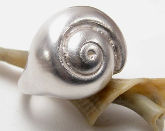 Silver Hatteras Snail Shell Ring