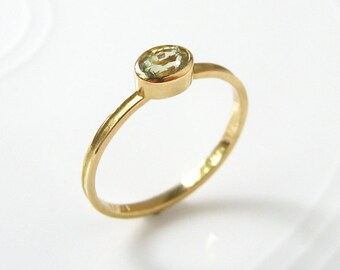 Sapphire Stacking Skinny Ring 18k Gold