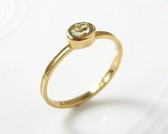 Sapphire Stacking Skinny Ring 18k Gold