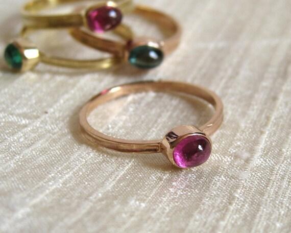 Pink Tourmaline Ring 18k Pink Gold