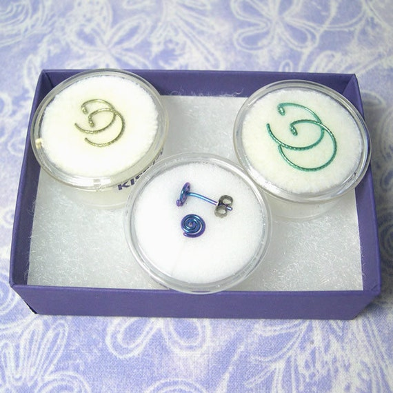 Niobium earrings: KISS Series Gift Pack of 3 pairs
