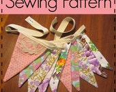 Flag Bunting Pattern, Fabric Flag Pennant, Party Decoration, Baby Shower Prop - Easy, Beginners, PDF Sewing Pattern