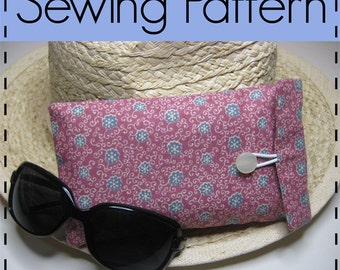 Pencil Case, Glasses Pouch, Cosmetic Tool Case, Padded Gadget Pouch, Make Up Case D.I.Y Sewing Pattern - Easy, Beginners Pattern