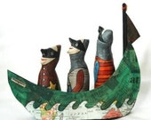 Art doll's and papier mache boat