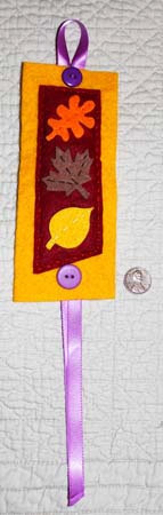 Autumn Book Mark, fall, leaves, yellow, orange, brown, place holder