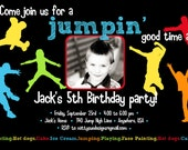 Jump Jump Birthday party Invitation