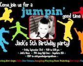 Jump Jump Birthday party Invitation