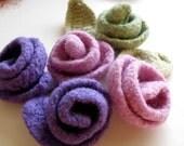 Lavender - Purple - Felted Rose- Spring Time