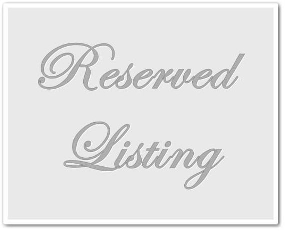 Reserved for sara6060