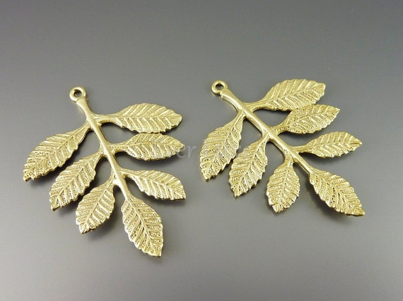 1264-MG (2 pcs) Matte gold plated branch connectors
