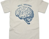 Well Endowed - Funny Brain Anatomy Science TShirt Unisex S M L XL 2XL Available