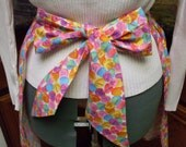 Vintage Inspired Pink Yellow Purple Conversation Hearts Hostess Apron