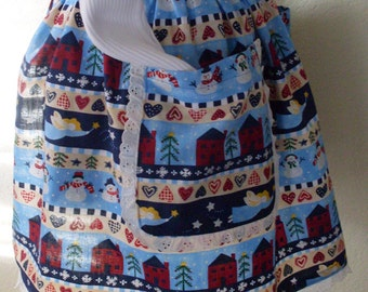 Christmas Hostess Apron Vintage Inspired Home for the Holidays Great for Cookie Baking