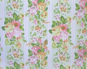 simply summer in pink, yellow & green, a vintage sheet fat quarter