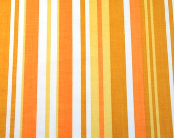 creamsicle stripes, a vintage sheet fat quarter