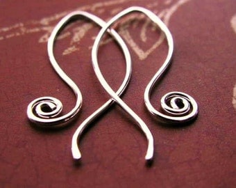 Sassy Spiral - Sculpted Artisan EARRINGS - Sterling Silver (Style 5)
