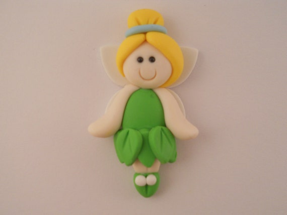 Polymer clay Bow Center - Tinkerbell