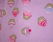 Cupcakes (pink) -Receiving/ Swaddling Blanket