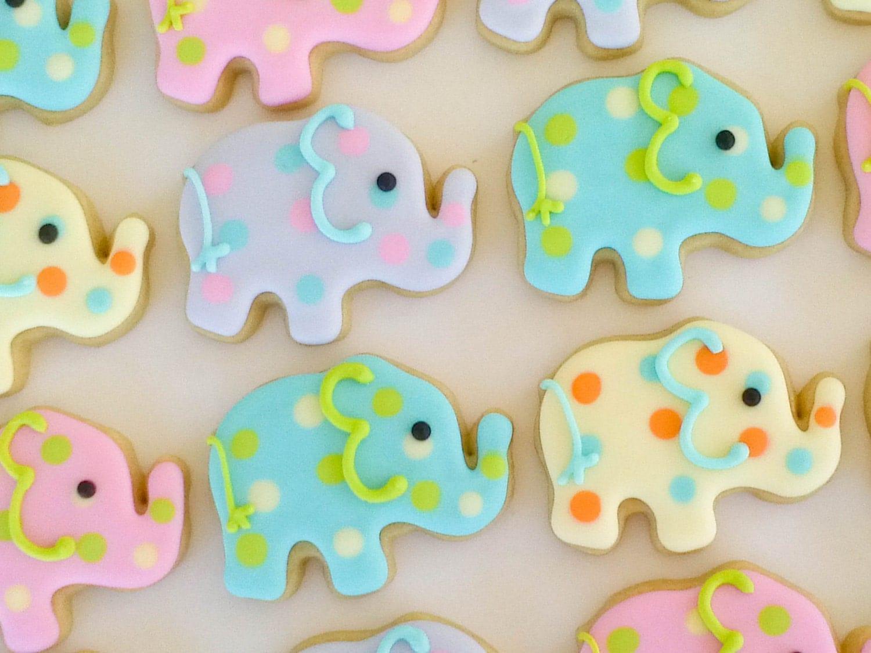 Elephant Mini Sugar Cookies 2 Dozen by acookiejar on Etsy