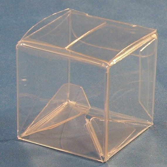 25 Clear Boxes - 1 1\/2 x 1 1\/2 x 1 1\/2
