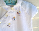 Vintage cotton baby dress