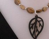 Reserved...autumn leaf necklace