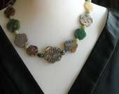 Reserved...stone flower necklace