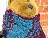 Very long handknitted scarf in Irish Tweed yarn: Aran Fusion