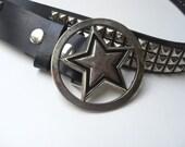 Leather Belt Punk Rock 1980's Style-