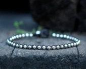 One Line Silver Bracelet