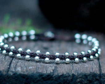 Simple Silver Unisex Anklet