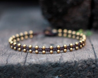 Simple Brass Unisex Anklet