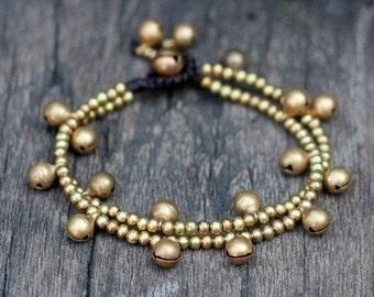 Brass Bell Chain Bracelet