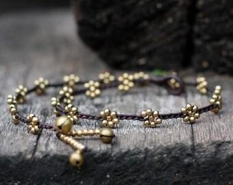 Flower Brass Necklace