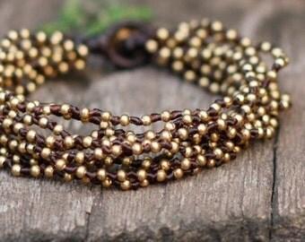 Double Lula Brass Bracelet