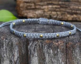 Omit Brass Gray Knot Bracelet