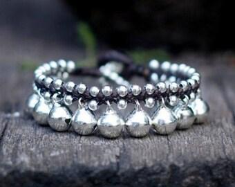 Silver Bell Kid Bracelet