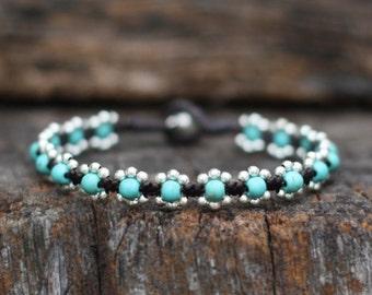 Elfin Turquoise Silver Bracelet