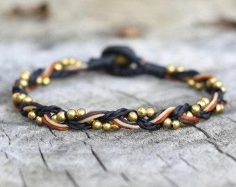 Braided Brass Bracelet