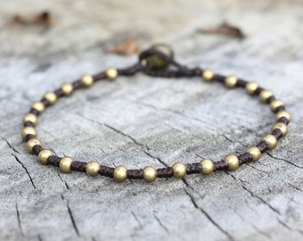 Worm Brass Anklet