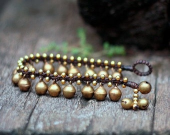 Brass Bell Kid Bracelet
