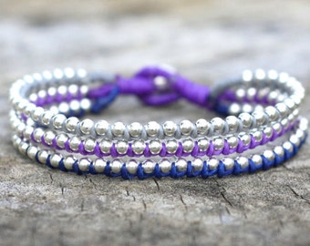 Connor Silver Stud Bracelet