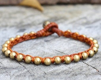 Stud Brass Rust Brown Bracelet