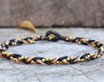 Braided Brass Anklet