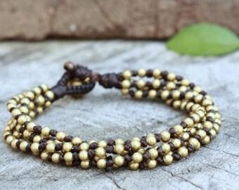 Knot Brass Bracelet