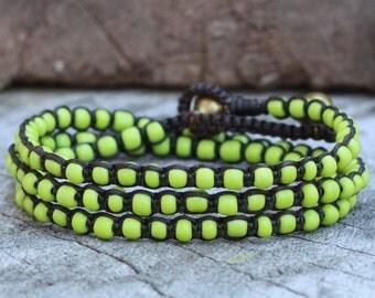 Lemon Green Wrap Bracelet