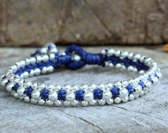 Viola Silver Dark blue Bracelet