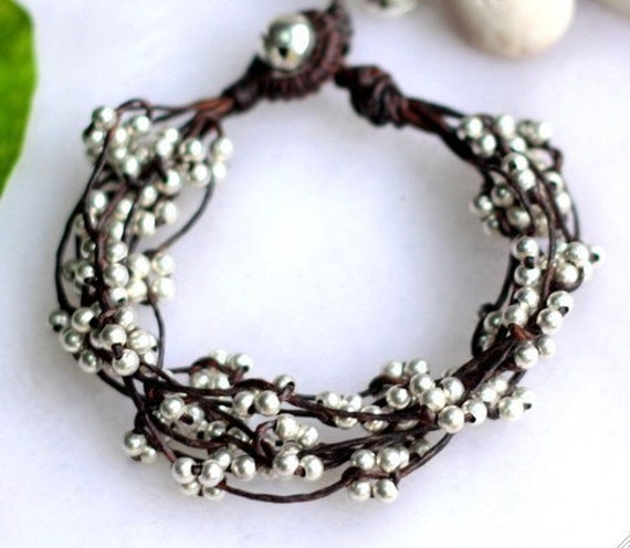 Reserved for keratucker/ Silver Bind Bracelet