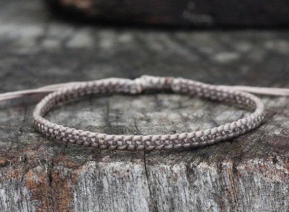 Mud Brown Cord Unisex Knot Bracelet