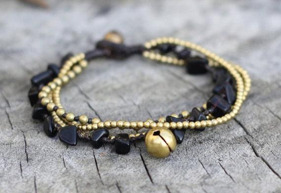 Black Brass Chain Bracelet